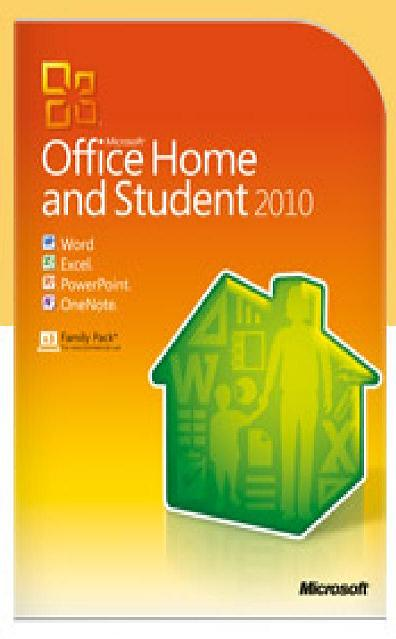 Microsoft Office Home and Student 2010 Family Pack - 3 user